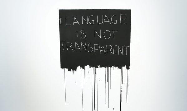"Bochner's ""Language is Not Transparent."" Will Ragozzinno/The Jewish Museum"