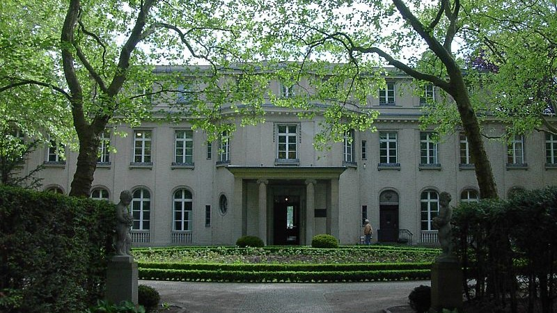 Illustrative photo of the villa where the 1942 Wannsee Conference was held, in the Berlin suburb of Wannsee. (photo credit: Adam Carr/WIkimedia Commons)