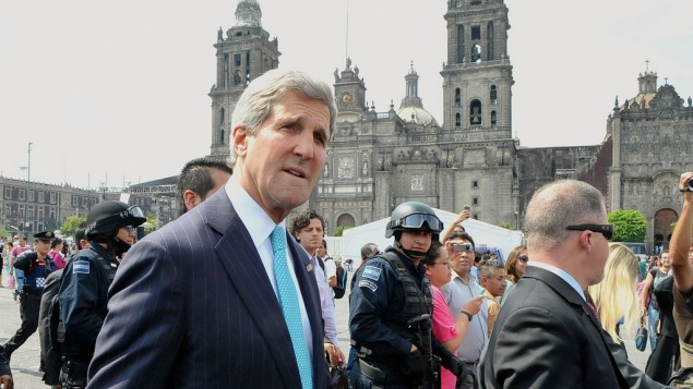 John Kerry à Mexico - 21 mai 2014 (Crédit : US Department)