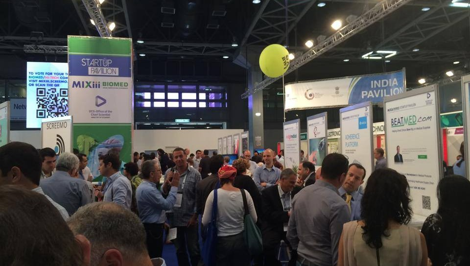 Le salon de l'innovation MIXiii à Tel Aviv (Crédit : autorisation)