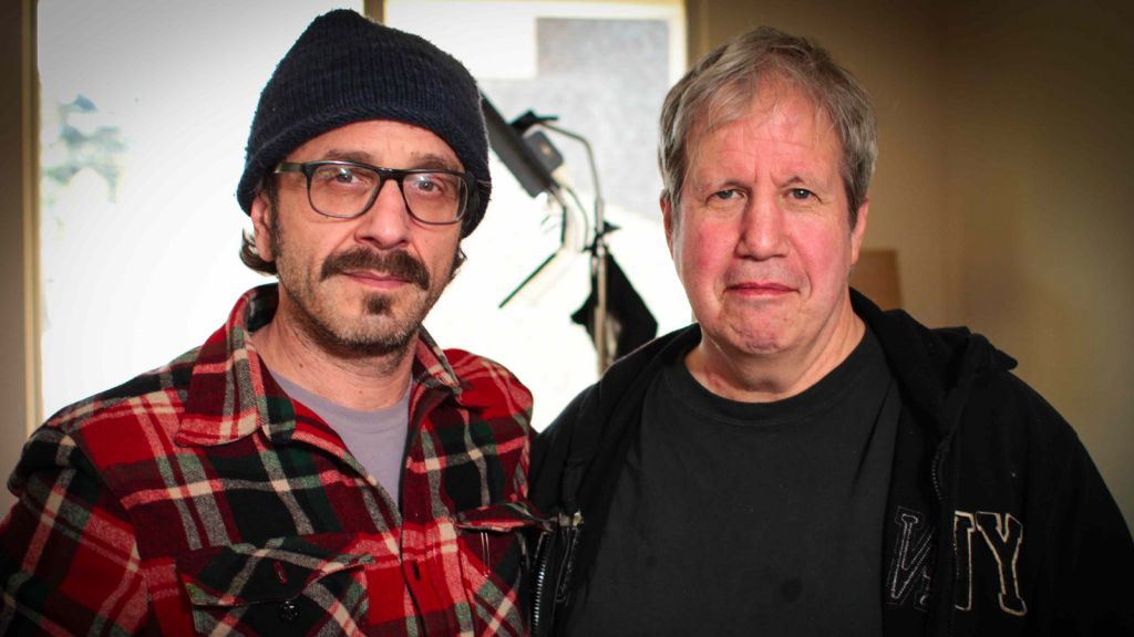 Alan Zweig, left, with comedian Marc Maron. (photo credit: Courtesy Alan Zweig)