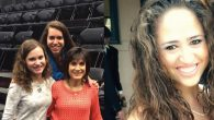 Adjusting to Usher Syndrome: Left, Jessica, Rachel and Melissa Chaikof. Right, Dorie Shapiro. Courtesy of Chaikof family