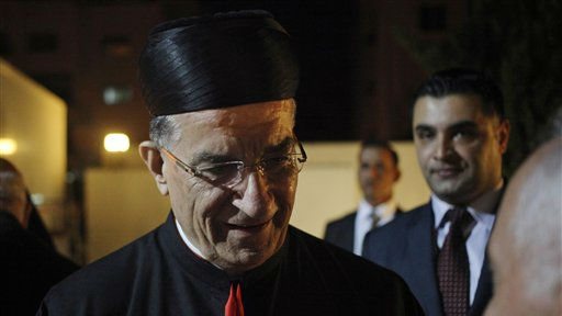 Lebanese Maronite Patriarch Cardinal Bechara Rai, arrives for the East Patriarchs Council dinner at the Latin Church, in Amman, Jordan, Friday, May 23, 2014. (photo credit: AP / Mohammad Hannon)