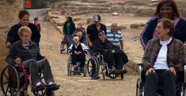 "Residents of a Connecticut nursing home tour Israel in ""Next Year Jerusalem."" Courtesy of First Run Features"