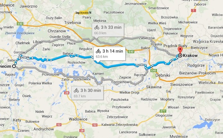 how to get from krakow to auschwitz
