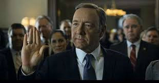 "Kevin Spacey as Francis ""Frank"" Underwood in the show House of Cards (photo credit: YouTube screen grab)"