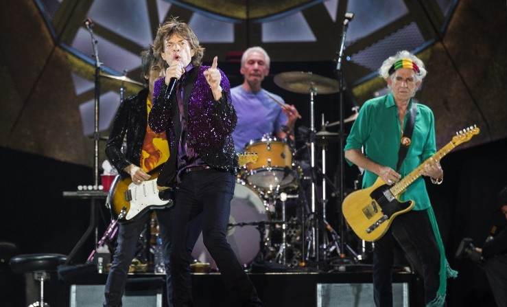 The Rolling Stones perform on stage at Hayarkon Park in Tel Aviv, on June 4, 2014. (Photo credit: AFP/ JACK GUEZ)