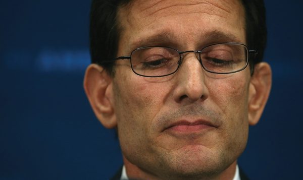 Cantor silenced: The Virginia Republican was defeated by a Tea Party candidate.  Getty Images