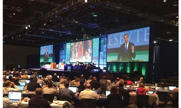 Rabbi Rick Jacobs,urges Presbyterians to reject divestment resolution last week in Detroit. Courtesy of URJ