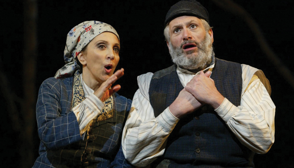 "Andrea Martin and Harvey Fierstein starred in a 2005 revival of ""Fiddler on the Roof."" Courtesy of Folksbiene"