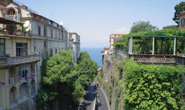 The view from a cliffside terrace overlooking the Mediterranean in Sorrento.  Hilary Larson/JW