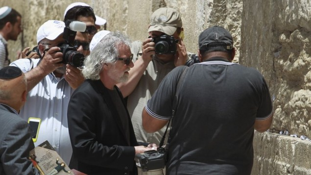 Chuck Leavell au Mur occidental (Crédit : Hadas Parush/Flash 90)