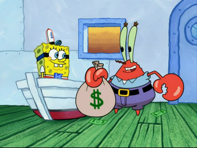 Mr Krabs and Spongebob (photo credit: Courtesy)