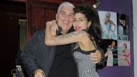 AMY WINEHOUSE AND DAD MITCH LEAVING THE MALMAISON HOTEL IN FARINGDON, TO HEAD TO NEW CLUB CITY BERLESQUE IN FARINGDON