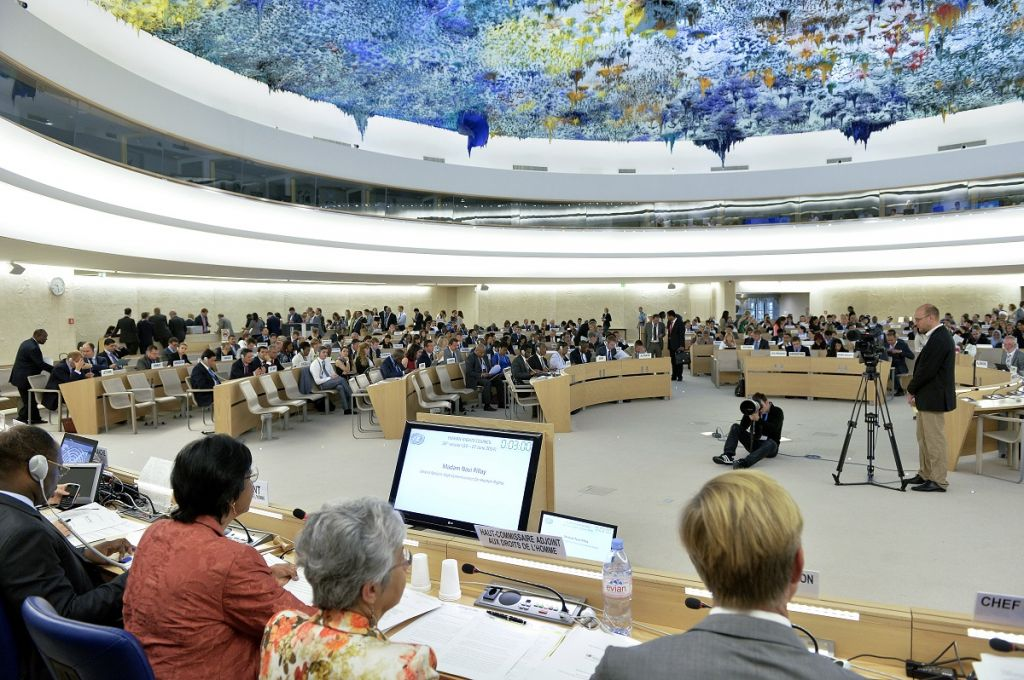 The Human Rights Council in Geneva. (photo credit: UN/Jean-Marc Ferré)