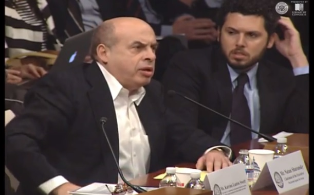 Jewish Agency Chairman Natan Sharansky presents initiative to name streets where embassies are located for dissidents (photo credit: Youtube screenshot)