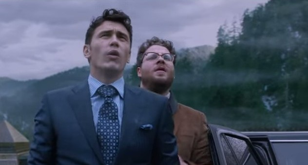 Seth Rogen and James Franco in 'The Interview' (photo credit: Youtube screenshot)