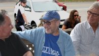 Alan Dershowitz hanging out on the porch of the Chilmark General Store in the Martha's Vineyard town of Chilmark, Mass. JTA