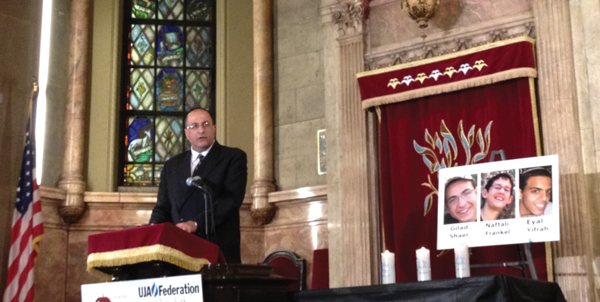 Israel's consul general in New York, Ido Aharoni. Judy Rosenblatt
