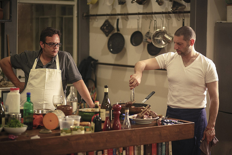 Kamel Hashlamon and Assaf Granit start a culinary conversation in Between Knife and Fork, part of this year's Jerusalem Season of Culture (Courtesy Jerusalem Season of Culture)