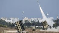 The Iron Dome air-defense system fires to intercept a rocket over the city of Ashdod on July 8. Getty Images