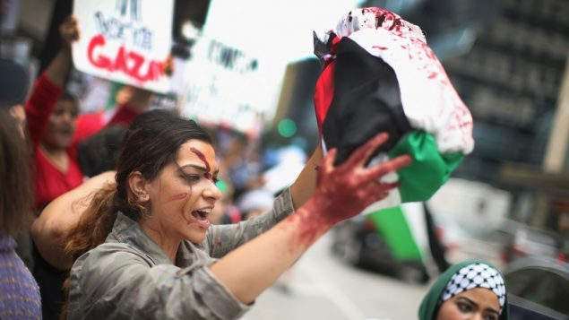 Pro-Palestinian protesters have held 'die-in' protests in several cities worldwide. Getty Images