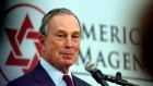 Michael Bloomberg, ancien maire de New York. (Crédit : Orel Cohen/Flash90/File)