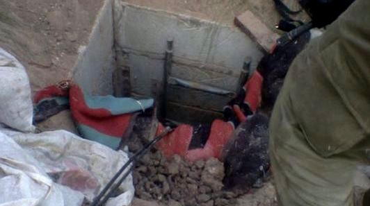 A tunnel discovered by soldiers from the Nahal Brigade in the Gaza Strip on July 19, 2014 Photo credit: IDF Spokesperson/Flash90)