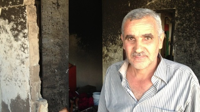 Muhammad Abu Aysha, uncle of suspected kidnapper Amer Abu Aysha (photo credit: Elhanan Miller/Times of Israel)