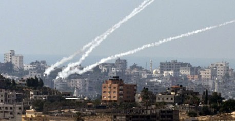 Rockets launched from the Gaza Strip
