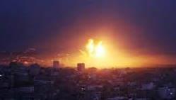 This widely circulated but untraceable photo, claimed to be from a Monday night bombing in the Gaza Strip, first surfaced on the internet during Operation Cast Lead in 2009