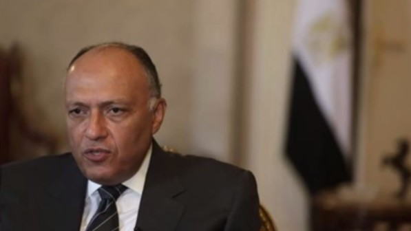 Egyptian Foreign Minister Sameh Shukri (photo credit: YouTube screen capture)
