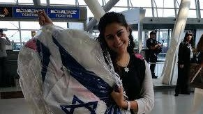 Ilana Barta, on her way to Israel a month before her wedding (photo credit: Courtesy)