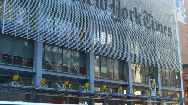The New York Times building. Wikimedia Commons