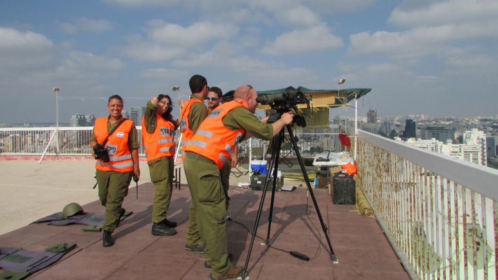 The soldiers in action. (photo credit: Debra Kamin/Times of Israel)