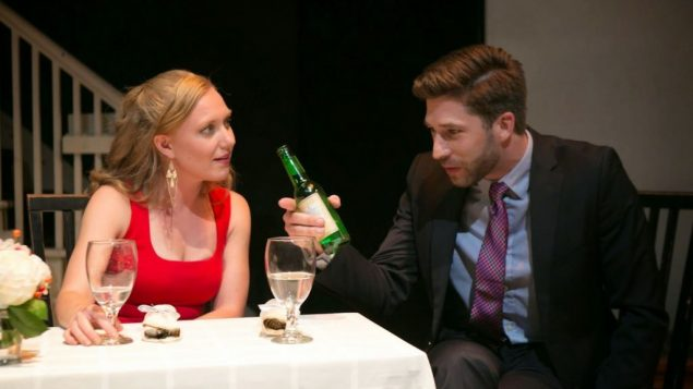 "Katharine McLeod and Jamie Geiger in ""The Religion Thing."" Jimmy Ryan"