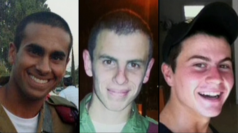From left to right: Lieutenant Paz Elyahu, 22, Staff Sergeant Shahar Dauber, 20, Staff Sergeant Li Mat, 19, who were killed in Gaza on Wednesday, June 23, 2014