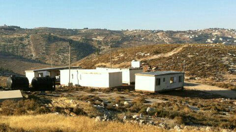 An outpost established in the Etzion Bloc after the killing of three Israeli teens in June (photo credit: Gush Etzion Regional Council)