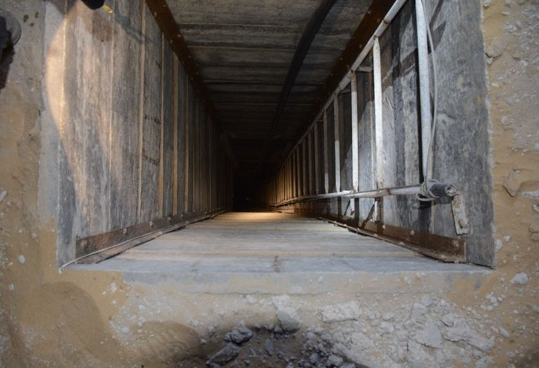 Tunnel opening discovered by IDF in Gaza,  July 20, 2014. (Photo credit: IDF)