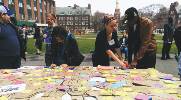Brooklyn College Hillel's Creative Coexistence group shares some of their work. Courtesy of Tanger Hillel at Brooklyn College