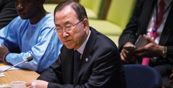 Ban Ki-moon, United Nations secretary-general, told Jewish group he will consider its recommendations. Getty Images