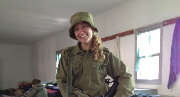 Raised in Riverdale, now an IDF instructor, Sarah Schloss postponed a visit back to the States. Courtesy of Sarah Schloss