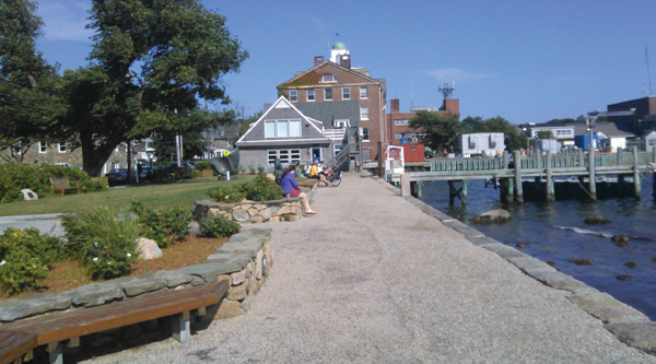 The dockside park in Woods Hole. Hilary Larson/JW