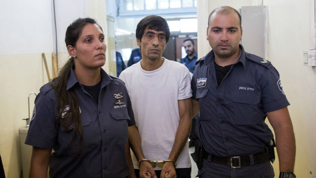 Wail Karame arrives for a hearing at the Jerusalem Magistrates Court on August 26, 2014. (photo credit: Yonatan Sindel/Flash90)
