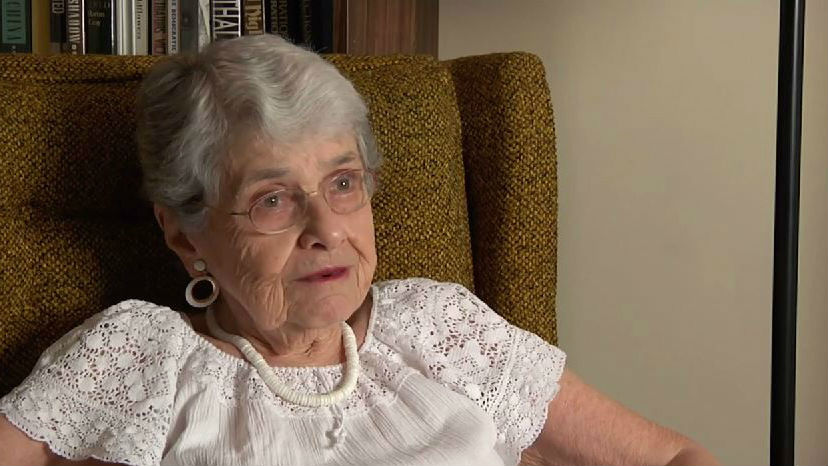 Political activist and Holocaust survivor Hedy Epstein (screen capture: YouTube/Missouri History Museum)