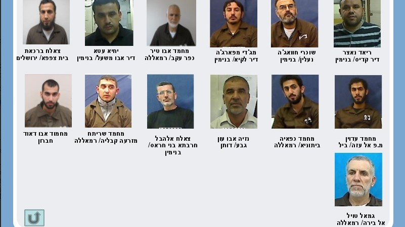 Suspected key terrorists arrested by the Shin Bet during a sweep of Hamas operatives in May and June, 2014 (photo credit: Shin Bet)