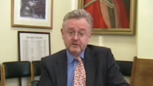 William Schabas (Crédit : capture d'écran YouTube)