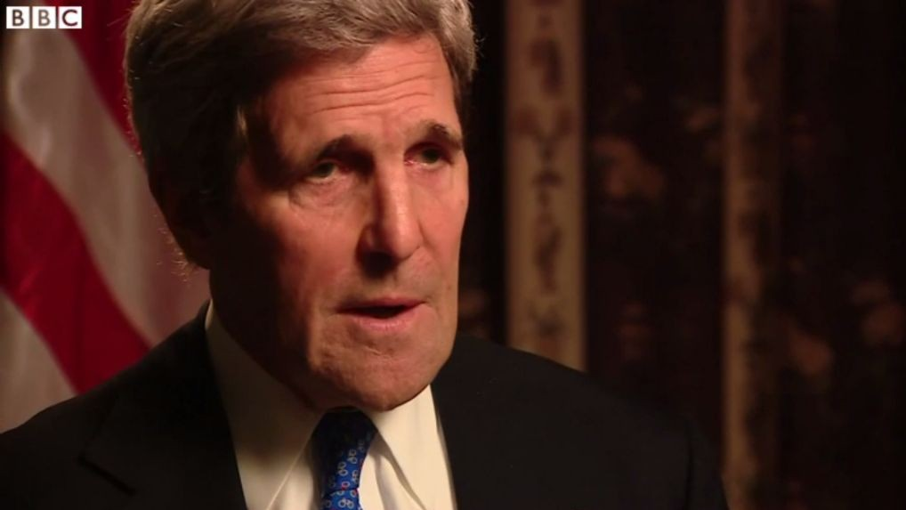 US Secretary of State John Kerry on the BBC (Photo credit: BBC/Youtube)