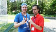 The author and a camp friend show just how seriously they take their summer fun. Courtesy of Alan Zeitlin