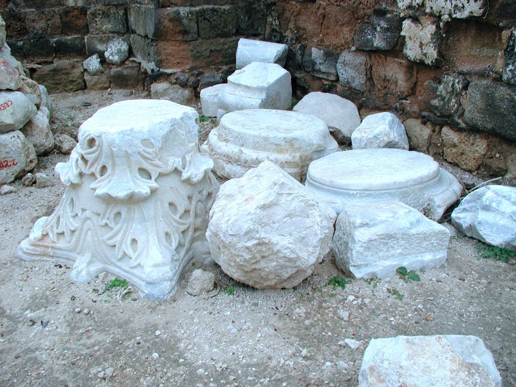 Crusader remains at Apollonia (photo credit: Shmuel Baram)